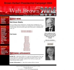 Official Campaign Web Site - Walter F. Brown
