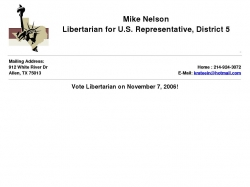 Official Campaign Web Site - Mike Nelson