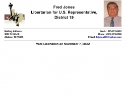 Official Campaign Web Site - Fred Jones