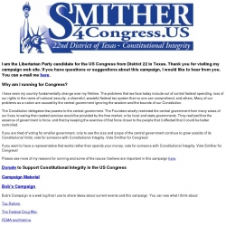 Official Campaign Web Site - Bob Smither