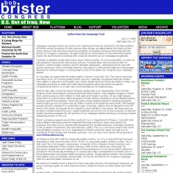 Official Campaign Web Site - Bob Brister