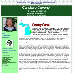 Official Campaign Web Site - Candace Ruth Caveny