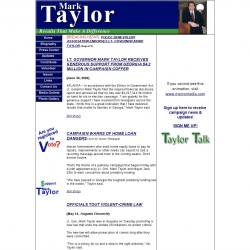 Official Campaign Web Site - Mark Taylor