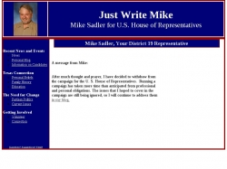 Official Campaign Web Site - Mike Sadler