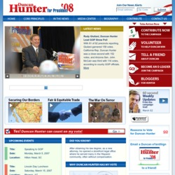 Official Campaign Web Site - Duncan Lee Hunter