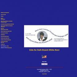Official Campaign Web Site - Ruth Bryant White