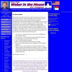 Official Campaign Web Site - Craig Peter Weber