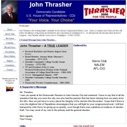 Official Campaign Web Site - John Armin Thrasher