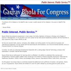 Official Campaign Web Site - Gaurav Bhola