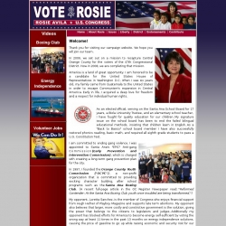 Official Campaign Web Site - Rosemarie 'Rosie' Avila