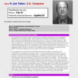 Official Campaign Web Site - H. Joe Tabor
