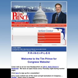 Official Campaign Web Site - Timothy P. Prince