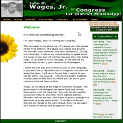 Official Campaign Web Site - John M. Wages Jr.