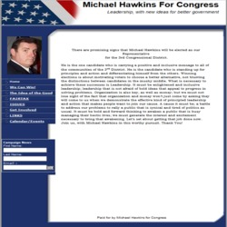 Official Campaign Web Site - Michael Hawkins