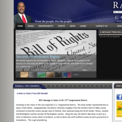 Official Campaign Web Site - William Alfred Randall II