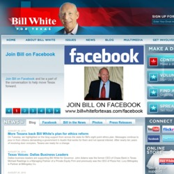 Official Campaign Web Site - Bill White