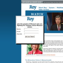 Official Campaign Web Site - Roy Blunt