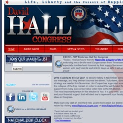 Official Campaign Web Site - David Hall