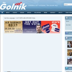 Official Campaign Web Site - Jonathan A. Golnik