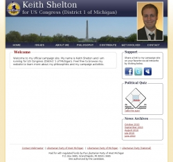 Official Campaign Web Site - Keith Shelton