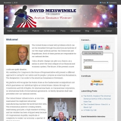 Official Campaign Web Site - David Meiswinkle