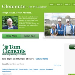 Official Campaign Web Site - Tom Clements