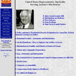 Member of Congress Official Web Site - Jim Kolbe