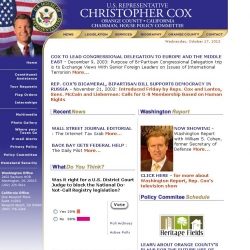 Member of Congress Official Web Site - Christopher Cox
