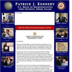 Member of Congress Official Web Site - Patrick J. Kennedy