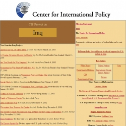 Center for International Policy Project on Iraq