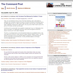 The  Command Post - A Warblog Collective