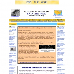 Home page of the National Network to End the War Against Iraq