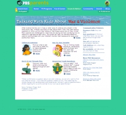 PBS Parents. Issues & Advice. Talking With Kids About War & Violence