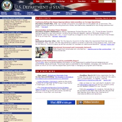 US Department of State Home Page