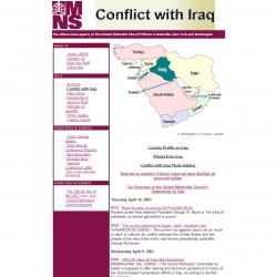 United Methodist News Service -- Conflict with Iraq