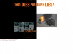 WHO DIES FOR BUSH LIES