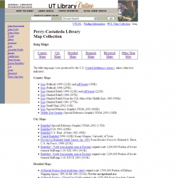 UT Library Online -- Perry-Castañeda Map Collection -- Iraq Maps
