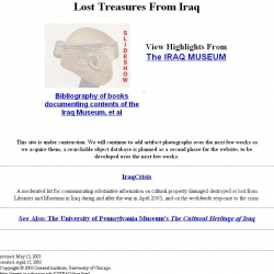 LOST TREASURES FROM IRAQ