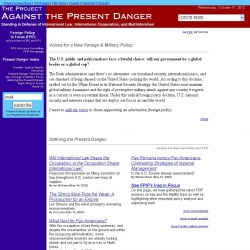 The  Project Against the Present Danger