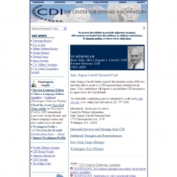Center for Defense Information - Terrorism, Military & Security Policy    Research Organization