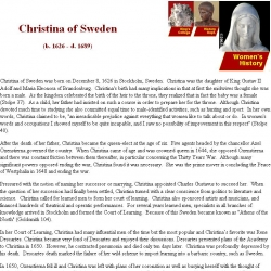Christina of Sweden, b.1626-d.1689
