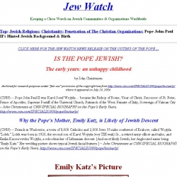 Is the Pope Jewish? : the early years, an unhappy childhood