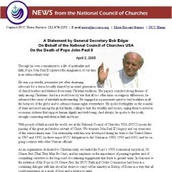 News from the National Council of Churches