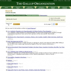 Gallup Organization - Search Results