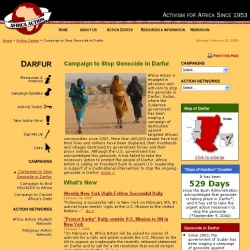 Africa Action : Campaign to Stop Genocide in Darfur