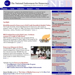Official web site of the National Endowment for Democracy