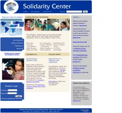Official web site of the American Center for International Labour Solidarity