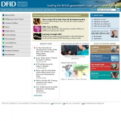 DFID : leading the British government's fight against world poverty