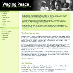 Waging Peace : Building a safe and democratic world
