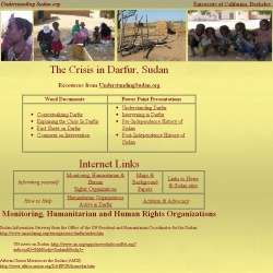 The  Crisis in Darfur, Sudan : Resources from UnderstandingSudan.org